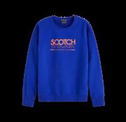 Scotch & Soda Sweater Logo Blauw (153582 - 1148)