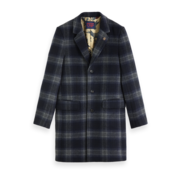 Scotch & Soda Wintercoat Wol blend Ruit Navy (151987 - 0217)