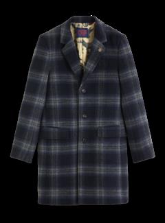 Scotch & Soda Wintercoat Wol blend Ruit Navy (151987 - 0217)