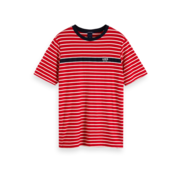 Scotch & Soda T-shirt Gestreept Rood (152270 - 0218)
