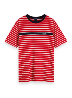 Scotch & Soda T-shirt Gestreept Rood (152270 - 0218)