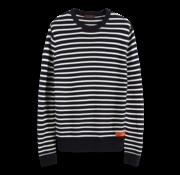 Scotch & Soda Sweater Gestreept Wit/Navy (152344 - 0217)