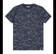 Dstrezzed T-shirt Ronde Hals Verfspatten Navy (202436 - 650)