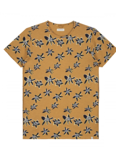 Dstrezzed T-shirt Print Bloemen Bronze (202458 - 305)
