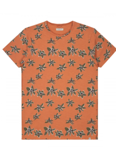 Dstrezzed T-shirt Print Bloemen Oranje (202458 - 439)