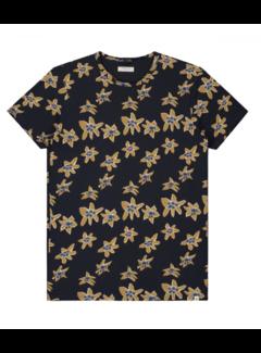 Dstrezzed T-shirt Print Bloemen Navy (202458 - 649)
