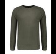 Dstrezzed Sweater Ronde Hals Army Groen (211261 - 524)