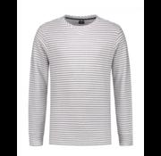 Dstrezzed Sweater Gestreept Wit/Grijs (261010D - 100)