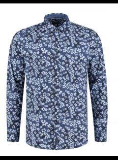 Dstrezzed Overhemd Print Bloemen Navy (351014D - 669)