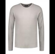 Dstrezzed Sweater Ruit Structuur Licht Grijs (404196 - 810)
