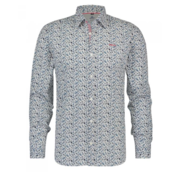 New Zealand Auckland Overhemd Mangatu Print Wit (19GN507 - 265)