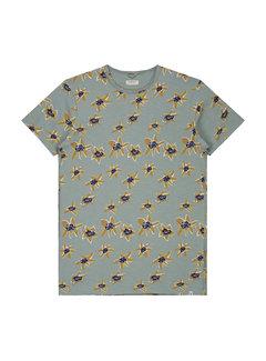 Dstrezzed T-shirt Print Bloemen Blauw (202458 - 689)