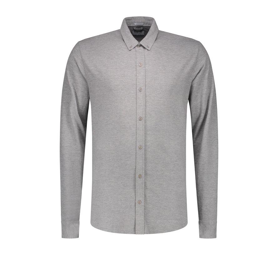 Jersey Overhemd Grijs Melange (202446 - 830)