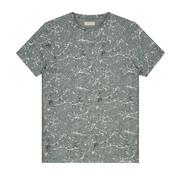 Dstrezzed T-shirt Ronde Hals Verfspatten Blauw (202436 - 689)