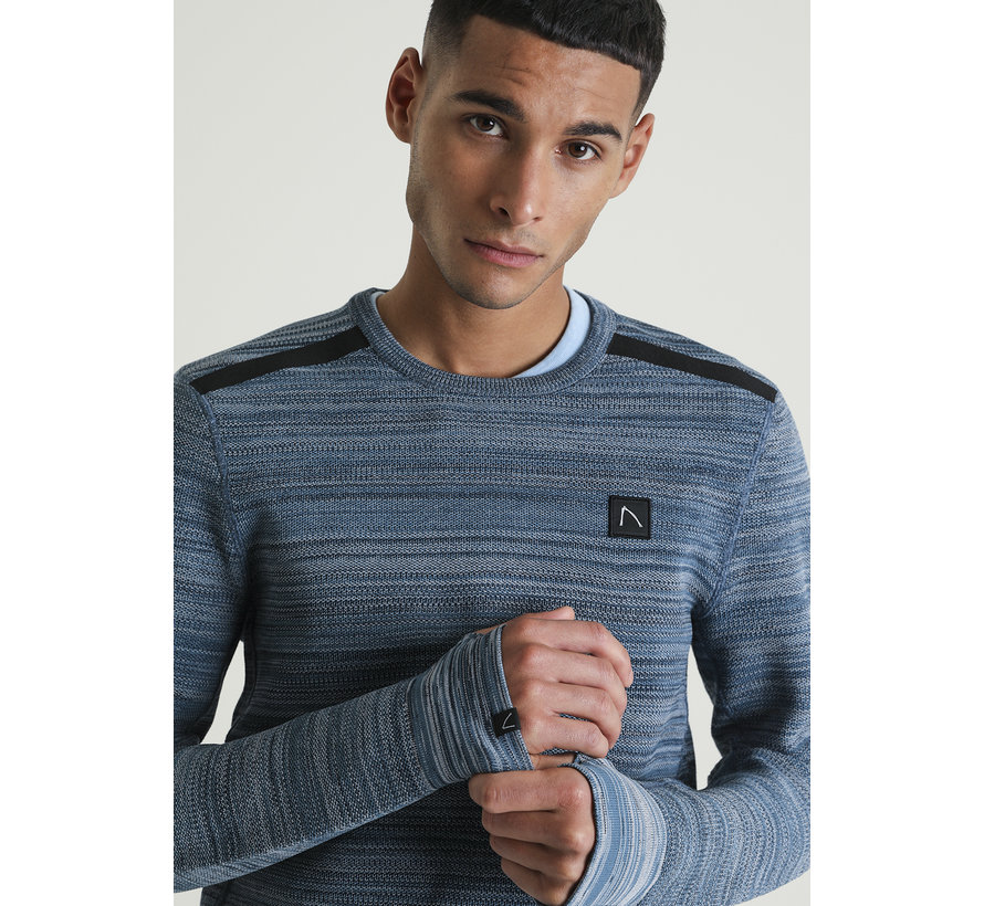 Frenk Sweater Mid Blauw (3111400035-E64)