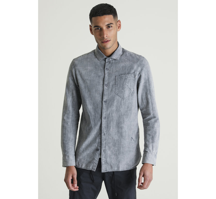 Ray.L Devon Shirt Licht Grijs (6111400030-E81)