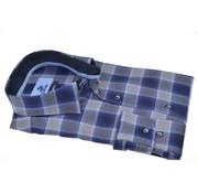 Culture Overhemd Modern Fit Ruit Blauw Grijs (504053 - 36)