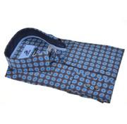 Culture Overhemd Modern Fit Print Cirkels Blauw (513932 - 35)