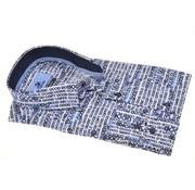 Culture Overhemd Modern Fit Tekst Good Blauw/Wit (513934 - 38)