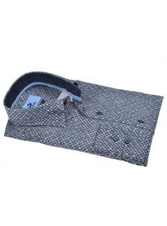 Culture Overhemd Modern Fit Rondjes Blauw (513941 - 38)