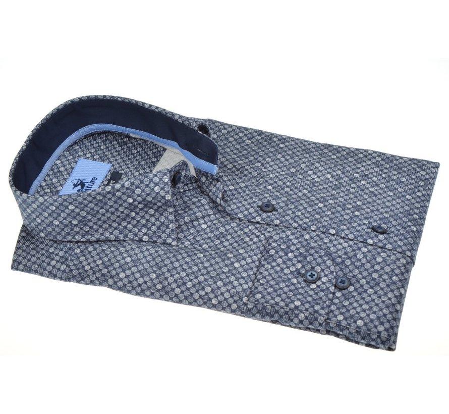 Overhemd Modern Fit Rondjes Blauw (513941 - 38)