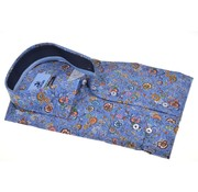 Culture Overhemd Modern Fit Print Bloemen Blauw (513981 - 36)