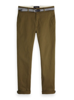 Scotch & Soda Chino Stuart met Riem Military Green (150953 - 0J)