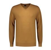 Dstrezzed Pullover V-hals Merino Bronze Bruin (404130 - AW19 - 305)