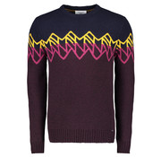 New In Town Pullover Close Fitting Bordeaux (8995038-386)