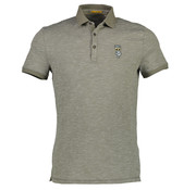 New In Town Polo Close Fitting Dusty Groen (8923254-641)