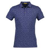 New In Town Polo Close Fitting Indigo Blauw (8923264-483)