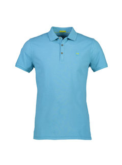 New In Town Polo Close Fitting Colorado Blauw (8923259-434)