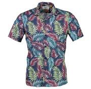 New In Town Korte Mouw Overhemd Indigo Blauw (8942940-483)