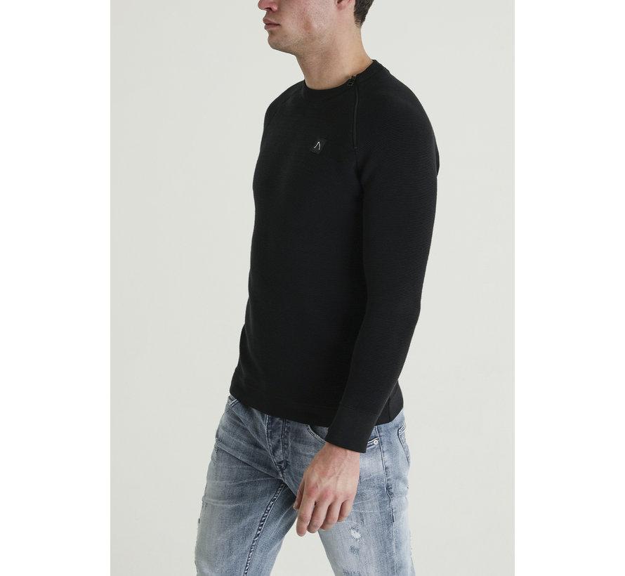 Longsleeve Sweater Taleb Zwart (4111400035-E90)