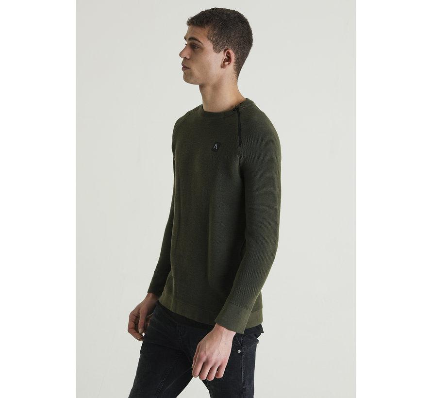 Longsleeve Sweater Taleb Groen (4111400035-E50)