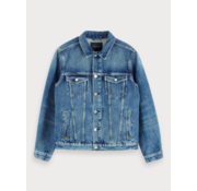 Scotch & Soda Spijkerjas Denim Truckerjack Blauw Cure (154120 - 3343)