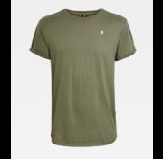 G-star T-shirt Ronde Hals Army Groen Met Logo (D16396 - B353 - B111)