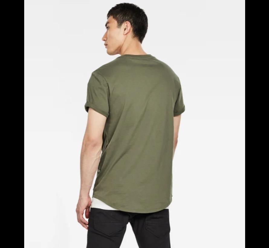 T-shirt Ronde Hals Army Groen Met Logo (D16396 - B353 - B111)