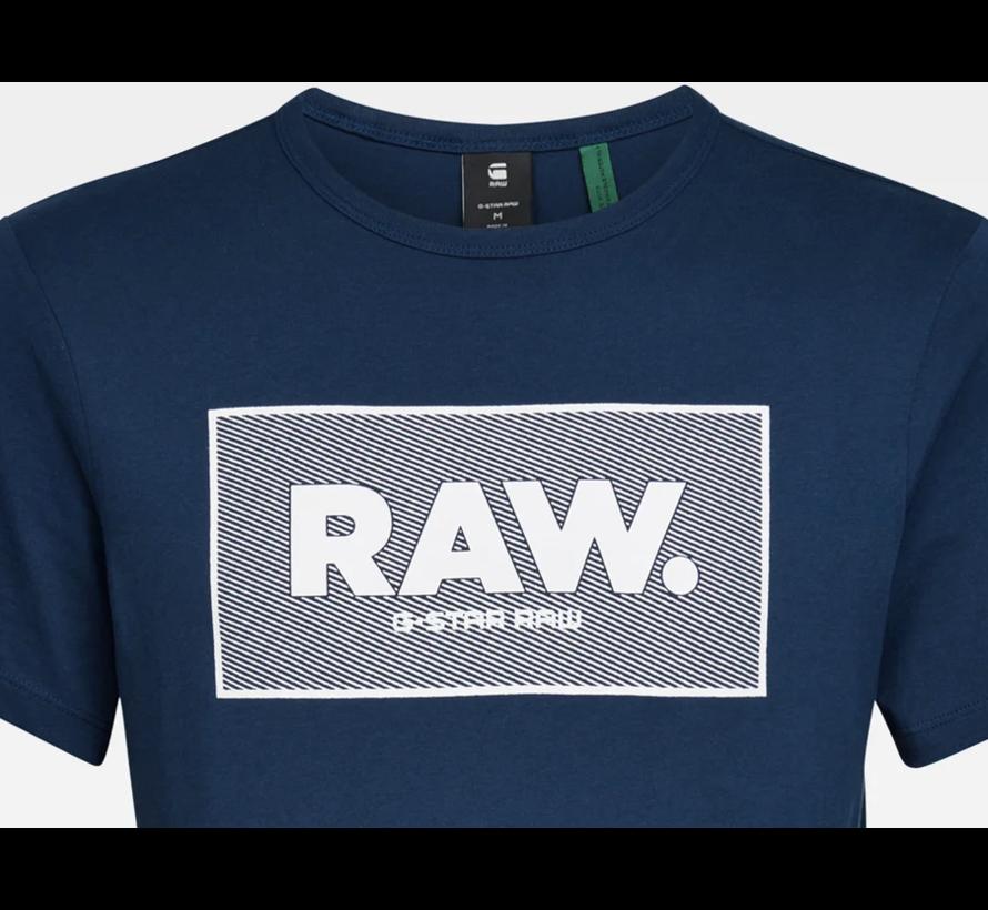 T-shirt Ronde Hals Navy Blauw Met Logo (D16375 - 336 - 1305)