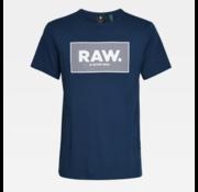 G-star T-shirt Ronde Hals Navy Blauw Met Logo (D16375 - 336 - 1305)
