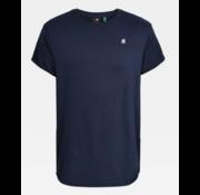 G-star T-shirt Ronde Hals Navy Blauw Met Logo (D16396 - B353 - 6067)