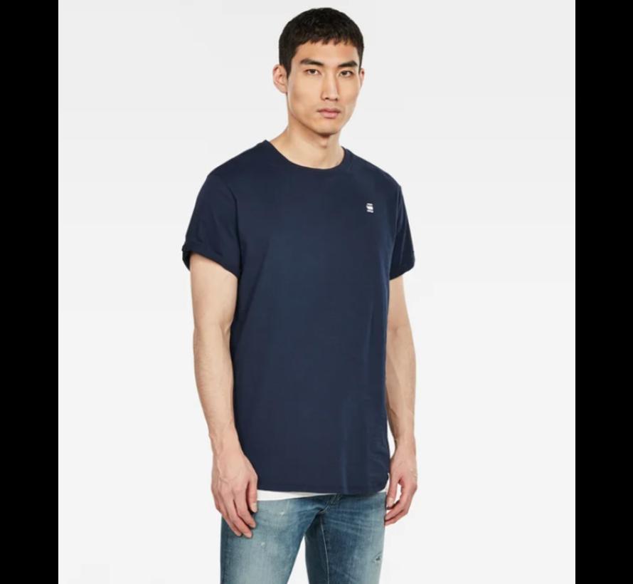 T-shirt Ronde Hals Navy Blauw Met Logo (D16396 - B353 - 6067)