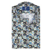 R2 Amsterdam Overhemd Poplin Blauw (107.WSP.029 - 014)