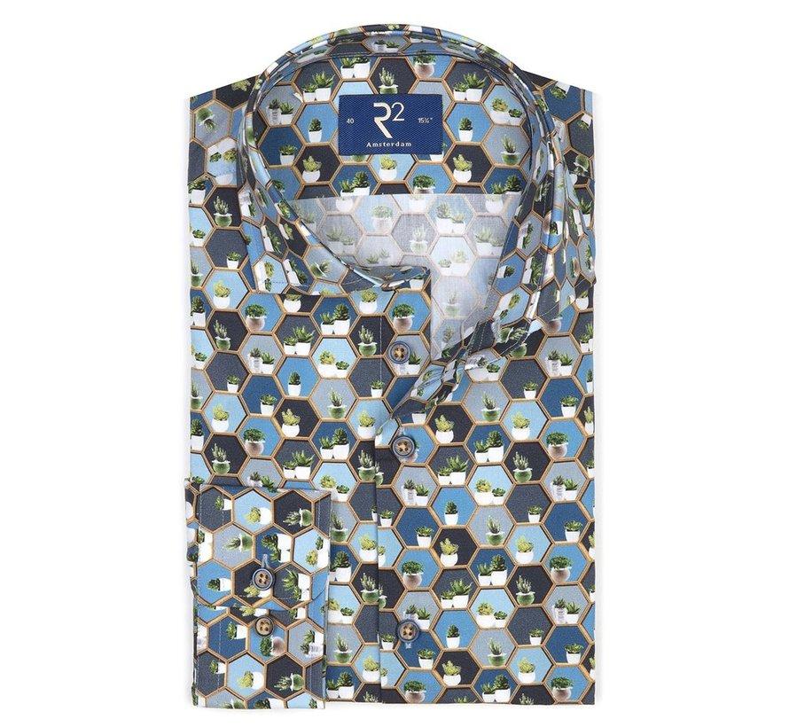 Overhemd Poplin Blauw (107.WSP.029 - 014)