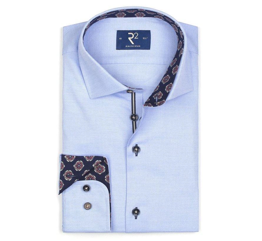 Overhemd Mouline Licht Blauw (107.WSP.036 - 018)