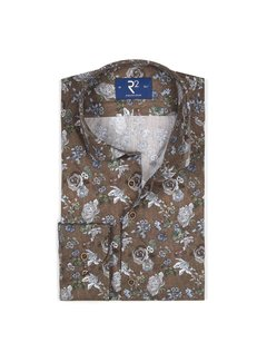 R2 Amsterdam Overhemd Donker Bruin (106.WSP.126 - 040)