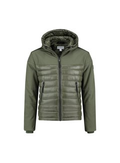 Dstrezzed Softshell Jas met Capuchon Army Groen (101244 - 524)