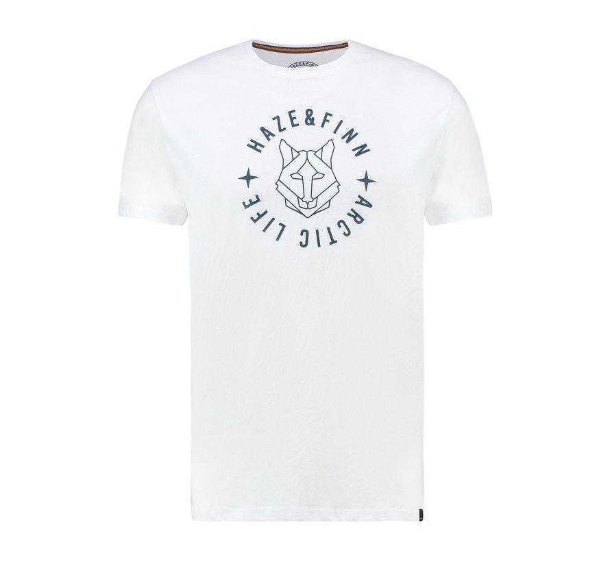 T-shirt Ronde Hals Wit (MU13-0007 - White-LightIndigo)