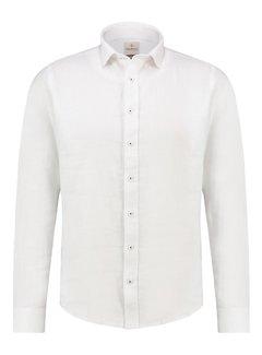 Haze&Finn Overhemd Linnen Wit (MA13-0107 - White)