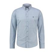 Haze&Finn Overhemd Print Blauw (MC13-0110-02 - BlueArgyle)